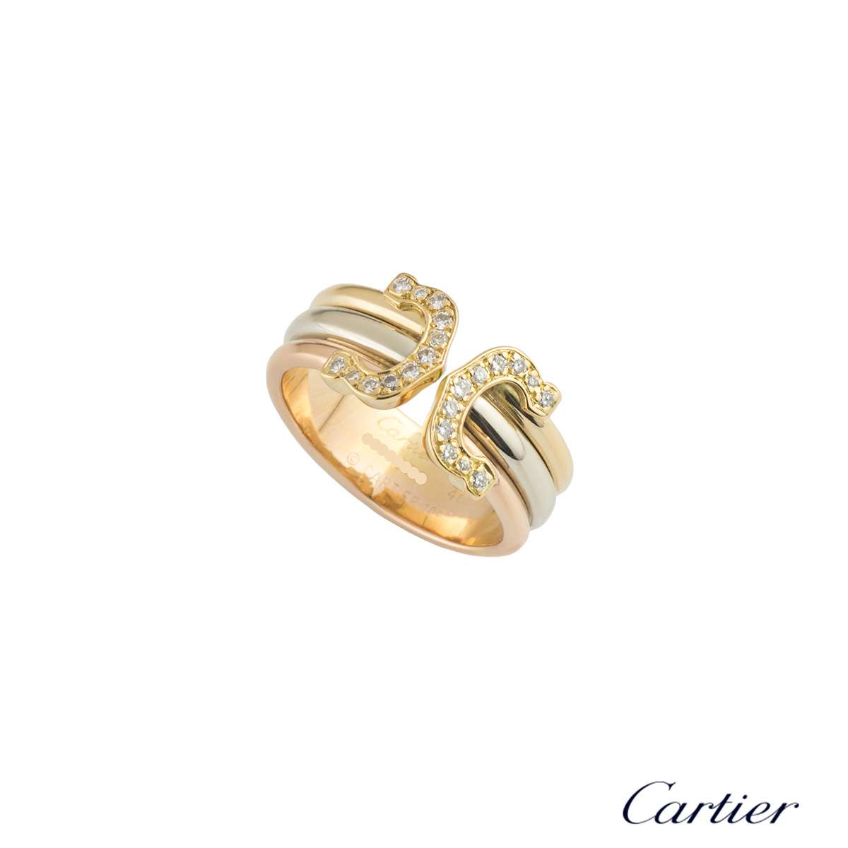 Cartier Tri-Colour Gold C de Cartier Ring